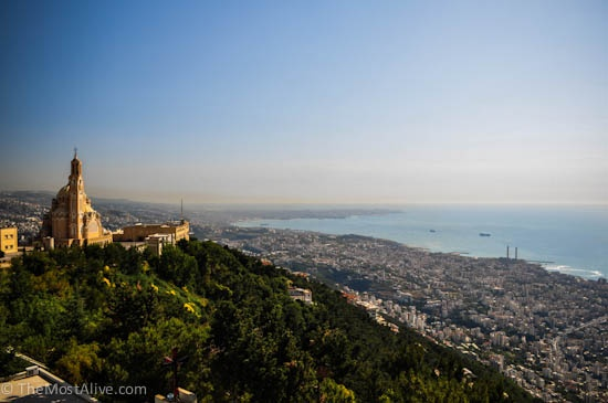 View from Harissa looking south towards Beirut visit @ http://themostalive.com/jounieh-teleferique-lebanon/