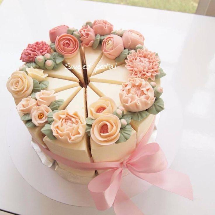 Korea 3d Flower Buttercream Cake Sweetpetalcake