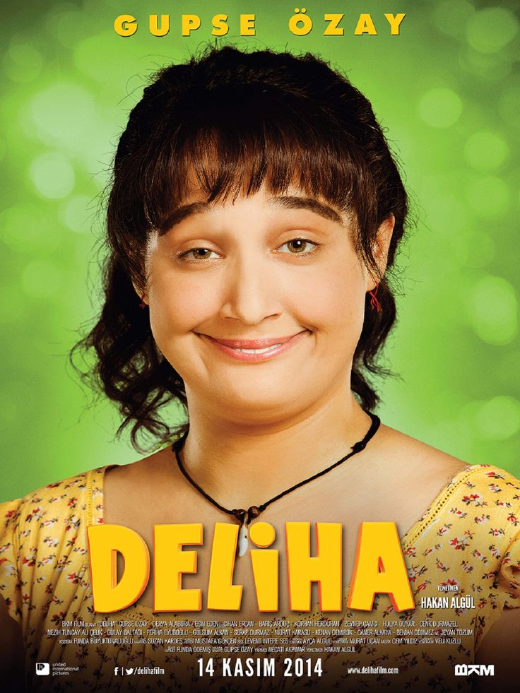 Deliha film   410378.jpg...Turkish film.....For the first time in Turkey a comedy actress plays a character of her own creation on screen. Deliha follows the hilarious exploits of a slightly crazy, decidedly droll and genuinely good-natured y…