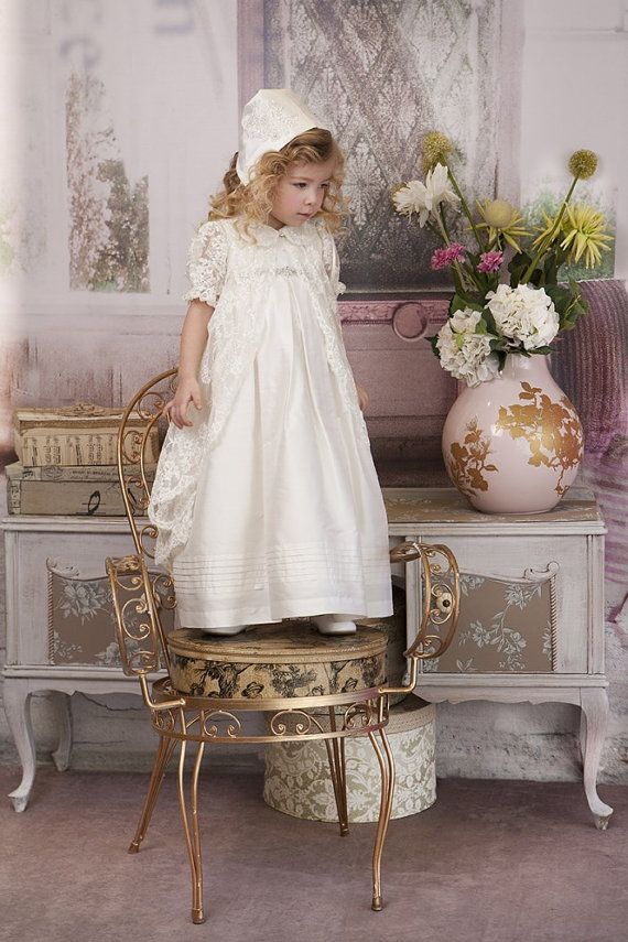 Silk Christening Gown Silk Christening Dress by StyledByAlexandros