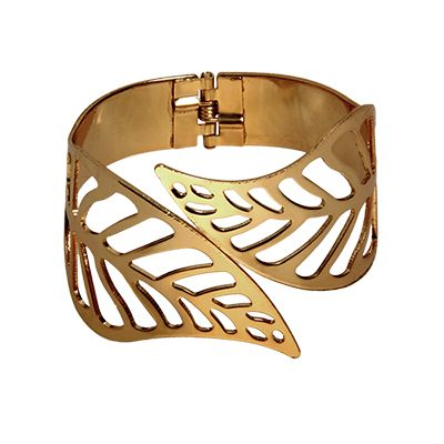 Gold Bangle- pair with gold sandals but keep the rest of the accessories to a minimum- one statement piece per outfit or the monochrome and metal look like they are fighting for attention