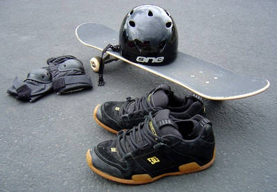 skateboard gear:  helmets, pads.  Please label clearly with your name if you need it back after the show.