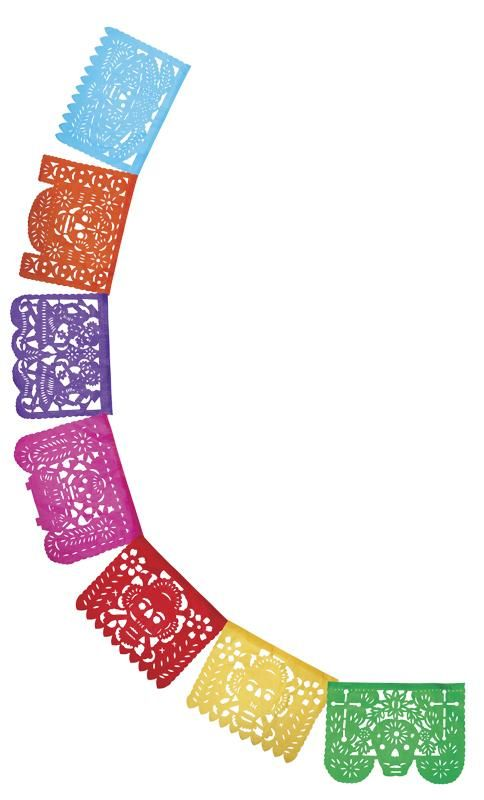 Day of the Dead papel picado decorative banner