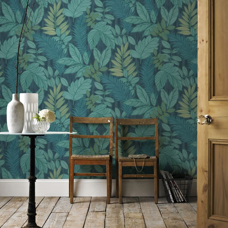 Graham U0026 Brown Tropical Storm Green U0026 Blue Foliage Wallpaper Awesome Design