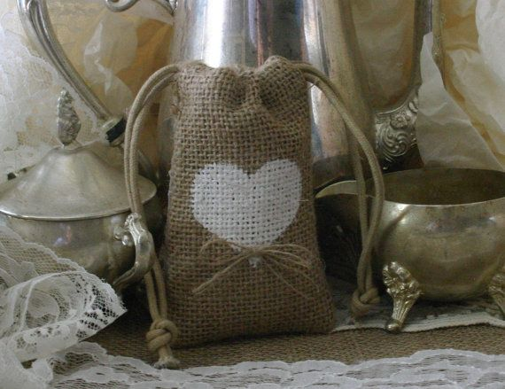 Burlap wedding vase FALL Wedding centerpieces by Bannerbanquet