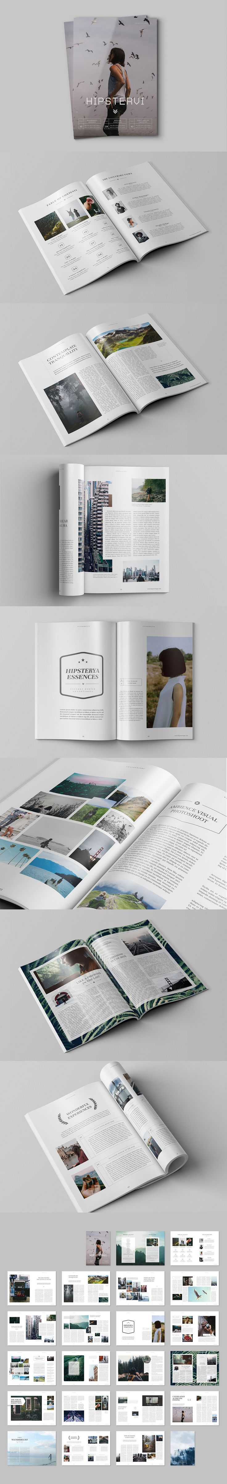Hipster Journey Magazine Template InDesign INDD