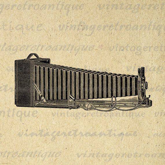 Printable Digital Antique Camera Download Old Fashioned Image