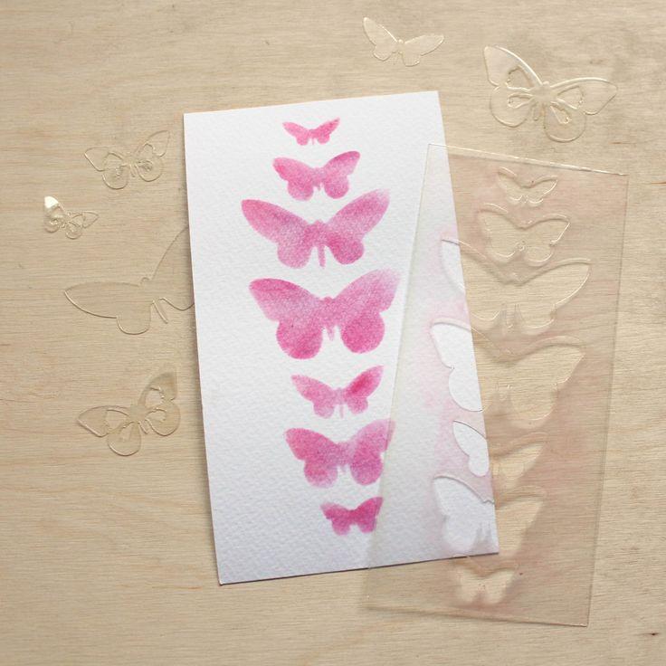 NőiCsizma | Pillangó sor- stencil, maszk