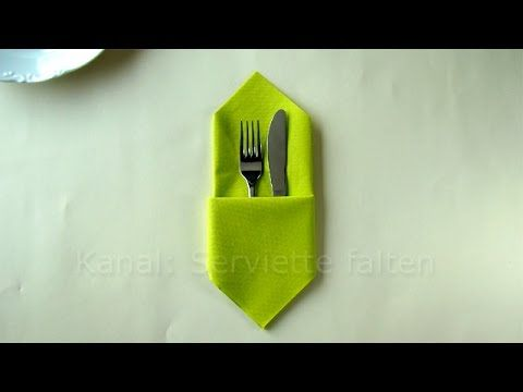 Servietten falten Ostern - Osterhase - Osterdeko selber machen - Osterbasteln - YouTube