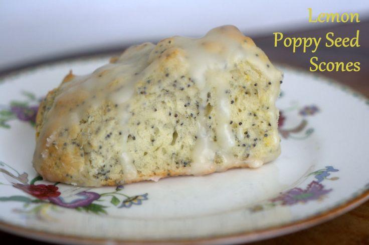 Lemon Poppy Seed Scones - from 365 Days of Baking & More