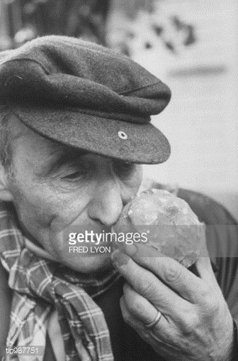 Stock Photo : Aroma of truffle is inhaled by Italian truffle-gatherer.