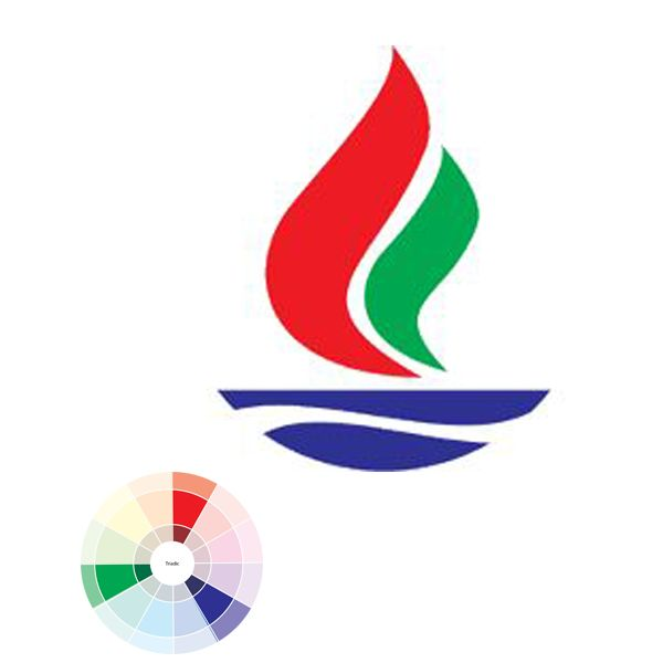 This is an example of Triadic. Triadic used three colour equally spaced around the colour wheel which demonstrate in the image. It gives strong visual contrast while retaining balance.