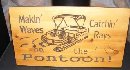 On the Pontoon  Makin  Waves  Catchin  Rays  by BlackRiverWoodshop, $35.00