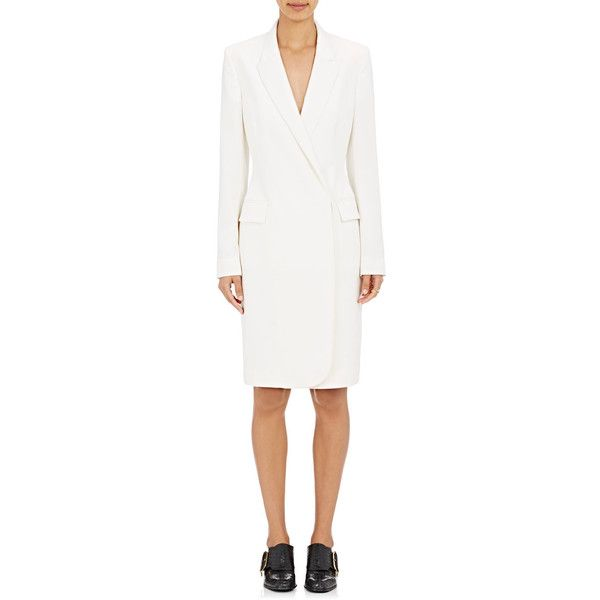 Stella McCartney Women's Tuxedo Dress featuring polyvore, women's fashion, clothing, dresses, ivory, ivory tuxedo, tuxedo dress, tuxedo suit, stella mccartney dresses and double breasted tuxedo