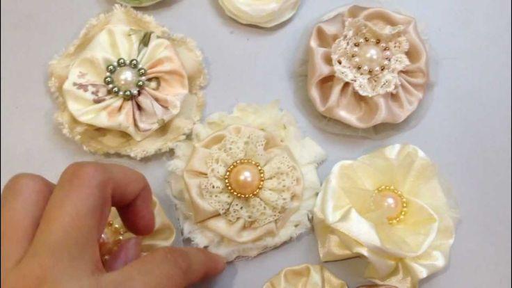 Handmade Fabric Flowers for Scrapbooking - Elegant & Shabby Chic