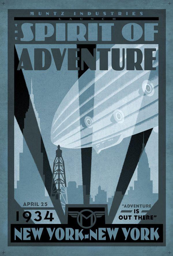 Retro Pixar Up Poster