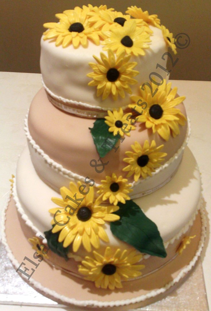 wedding cakes decorated with sunflowers 17 best images about cake decorating on hombre 24161