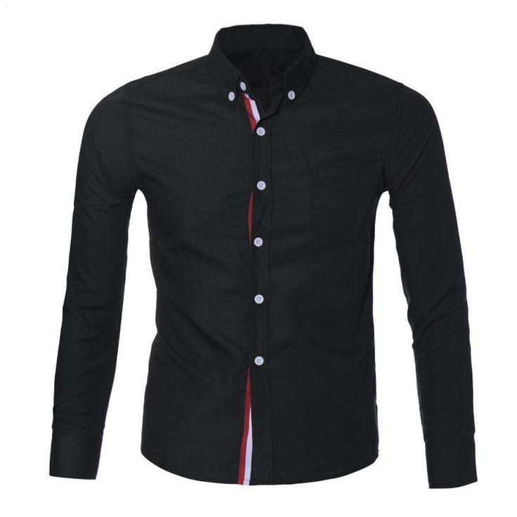 Navy Blue/Light Blue/White Mens Button Shirt Chemise Homme Slim Fit Long Sleeve Men Shirts Famous Brand Social Shirt