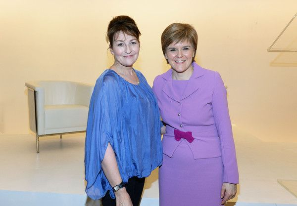 Blythe Duff Photos Photos - Scottish actress Blythe Duff (L) and First Minister of Scotland Nicola Sturgeon visit Glasgow Caledonian University New York on June 8, 2015 in New York City. - First Minister/Caledonian Lecture