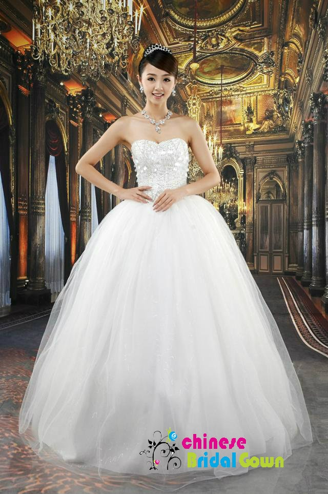 Style 4077, Amazing  Organza Ball Gown Sweetheart Chinese Wedding Dress by CBG.