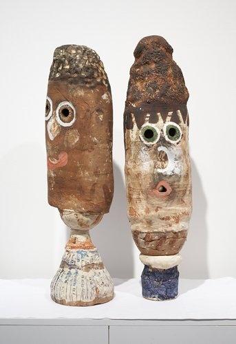 Brendan Huntley  Untitled  2010/2011  looks like mr. and mrs. potato head