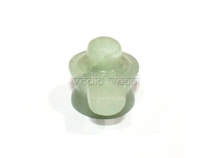 Shivling in green aventurine in 55 gms online, Vedicvaani.com. Shivlingam carved out of natural Green Aventine gemstone. Shiv lingam represent jyotirlinga.