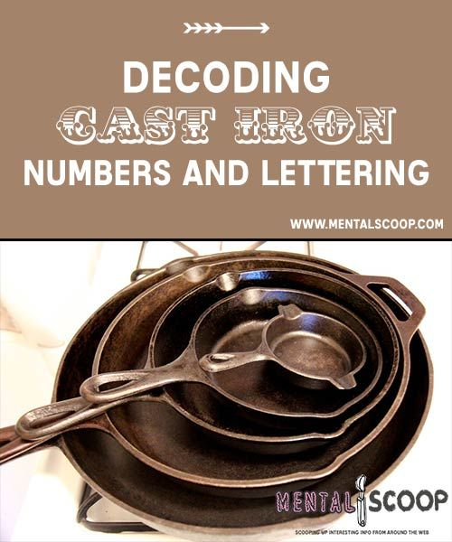 Decoding Cast Iron Numbers and Lettering  Image Credit: wiki commons  Numbers   Whether the p...