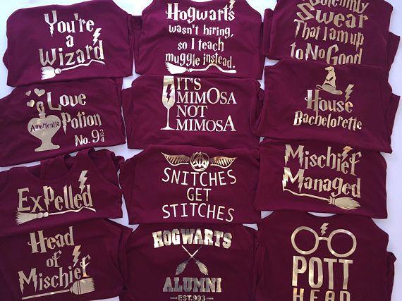 Bachelorette Party Tanks Harry Potter Shirts Tank Tops Junggesellinnenabschied Junggesellen Abschied Abschied