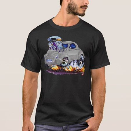 1941 Willys Silver Car T-Shirt - click/tap to personalize and buy