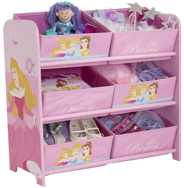 Disney Princess Bedroom | DISNEY PRINCESS 6 BIN TOY STORAGE UNIT MDF  CHILDRENS KIDS BEDROOM .