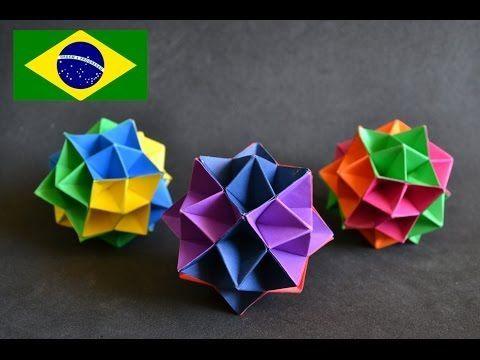 Origami: Spike Ball - Tutorial com voz PT BR - YouTube