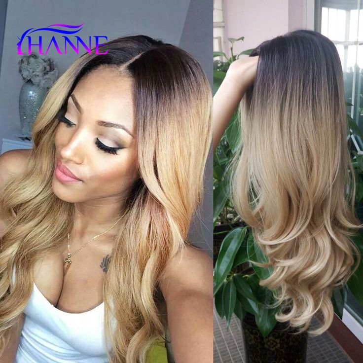 New Arrival Black To Blonde Ombre Synthetic Wigs For Black