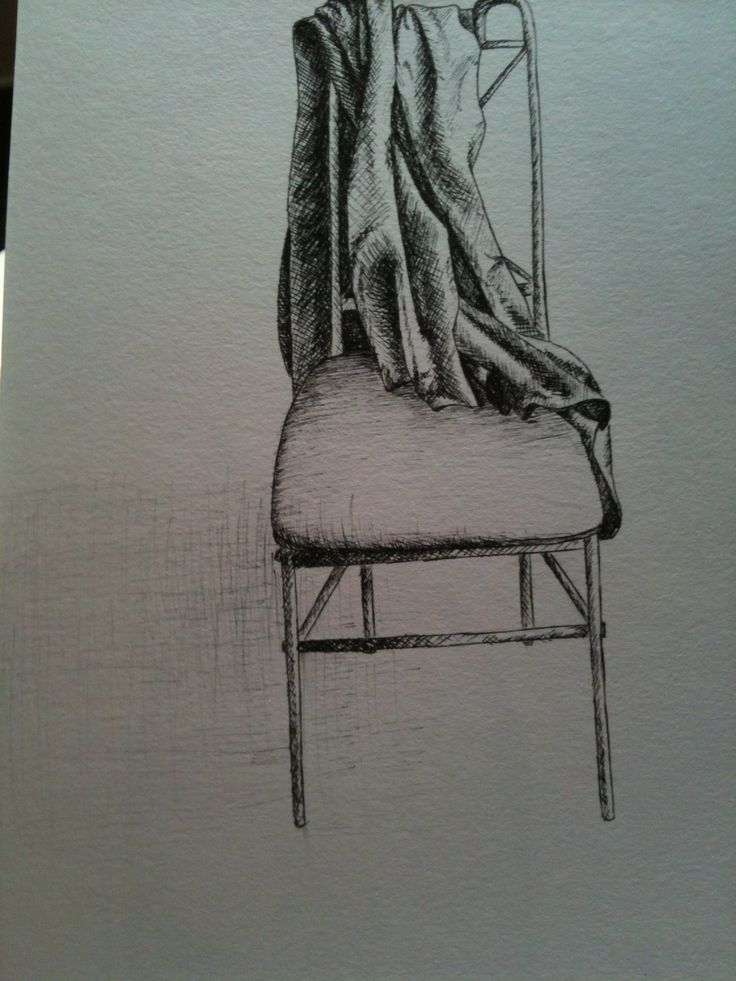 Chair, pen drawing