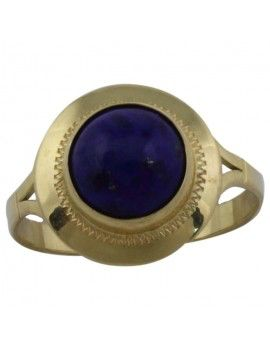 Gold and lapis ring.