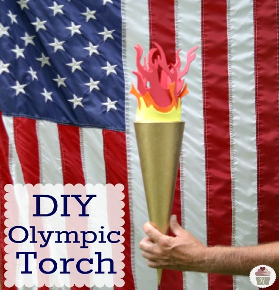 DIY Olympic Torch on HoosierHomemade.com