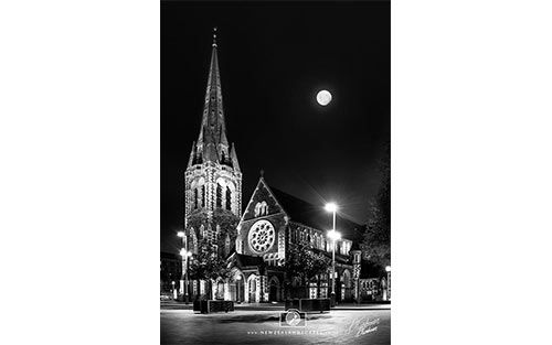 Christchurch Cathedral at Night - pre earthquake