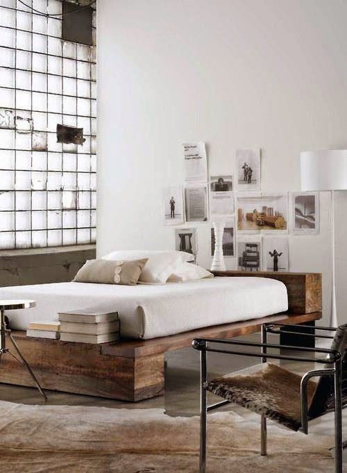 A great bed, with simple rustic materials, that can still have a modern look.