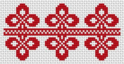 National motives, free cross stitch patterns and charts - www.free-cross-stitch.rucniprace.cz