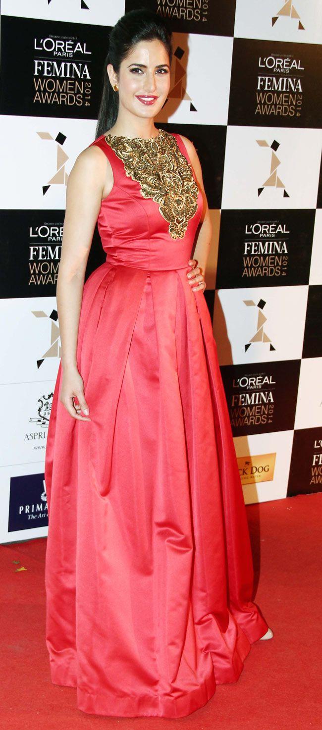 Katrina Kaif at the L'Oreal Paris Femina Women Awards 2014. #Style #Bollywood #Fashion #Beauty