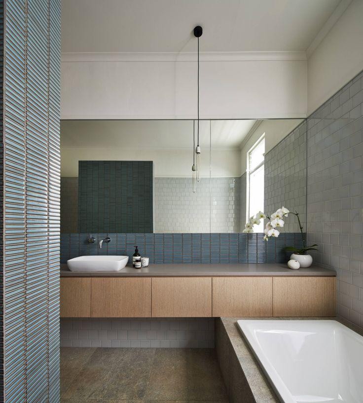 Grey blue bathroom