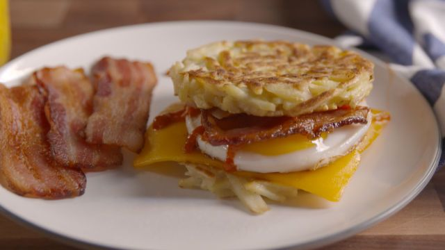 Hash Brown Breakfast Sandwiches   Recipe   The secret, Sandwiches and ...