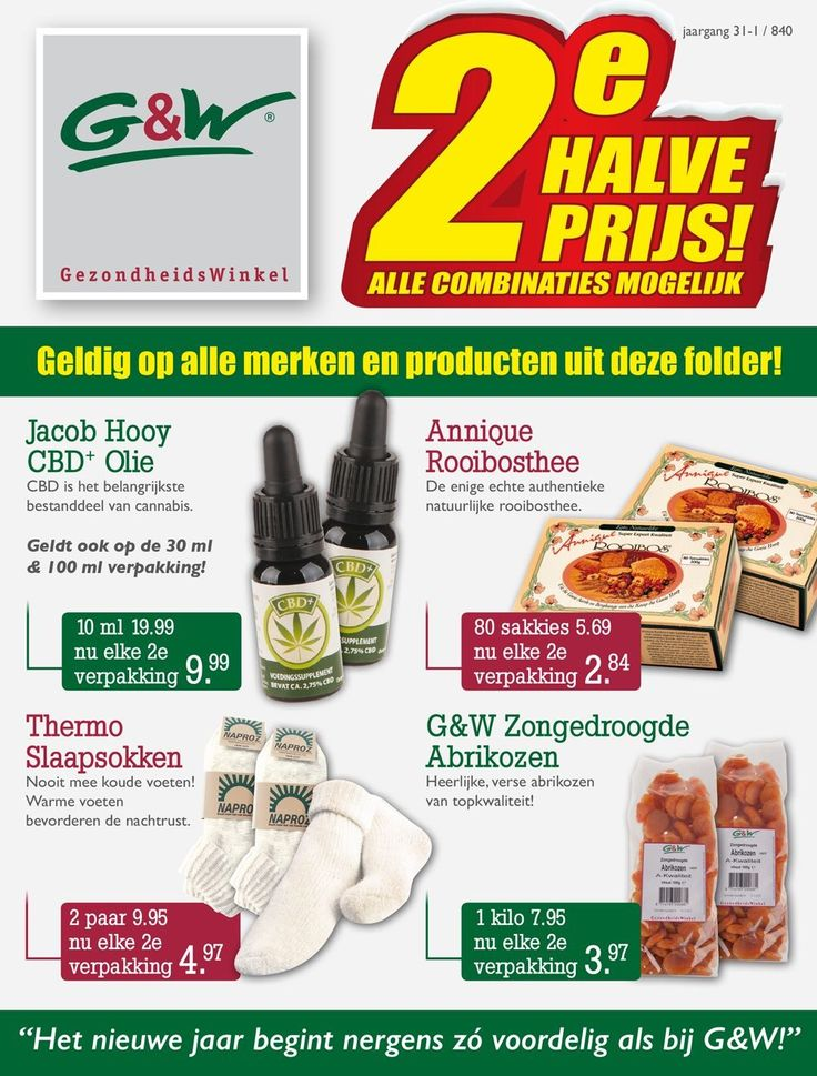 G&W #GezondheidsWinkel #Enschede #Haverstraatpassage 2e Halve PRIJS - Op alle producten in onze nieuwe folder! 