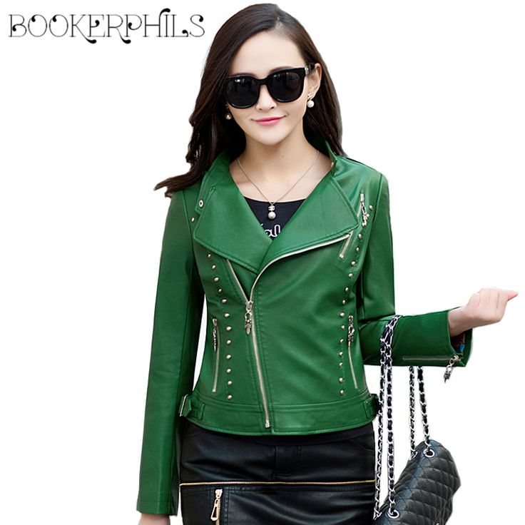 ==> [Free Shipping] Buy Best 2017 New Spring Women Faux Leather Jacket Fashion Women Coat Female Leather Jacket Zipper Rivet Washed PU Leather Jacket Brand Online with LOWEST Price | 32787991588