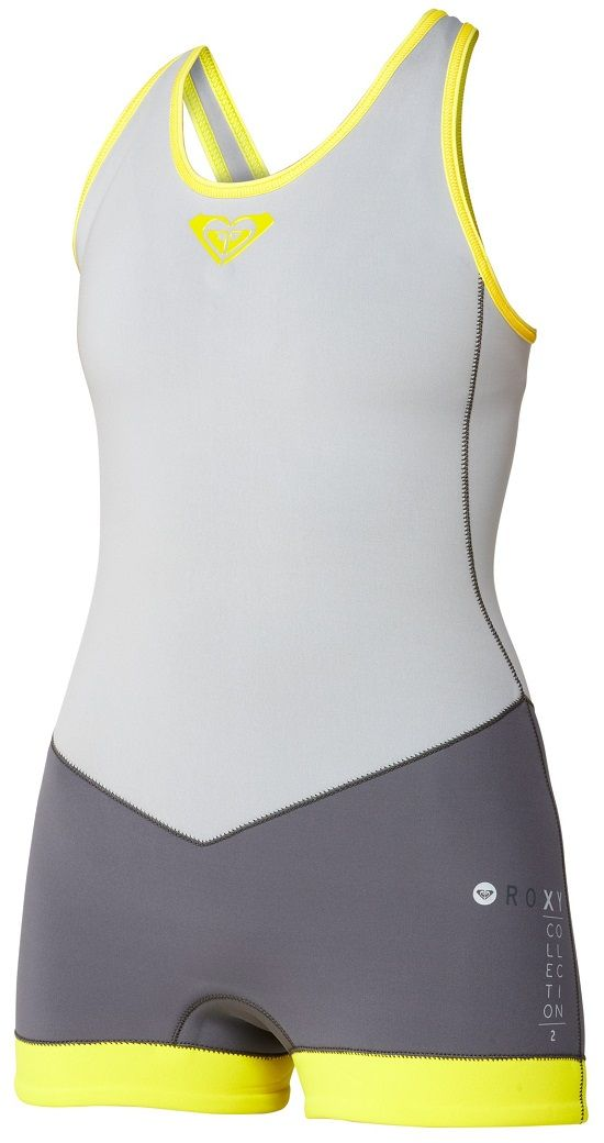 Roxy XY Springsuit Cross Back Short John Wetsuit WomenThis Cross Back Short John features a 2mm Fiberlite neoprene body, glued and blind stitched seams, and a crossback design. ...