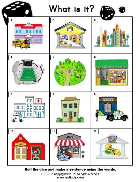 city places classroom center bundle city places activities for kids aprendizaje. Black Bedroom Furniture Sets. Home Design Ideas