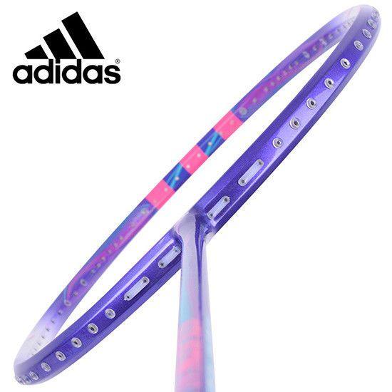 adidas Badminton Racket STILISTIN W1 Easy Purple Racquet String with Cover  #adidas