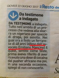 Studio Legale Mancino: Ferrara, tribunale: da testimone a indagato #falsa...