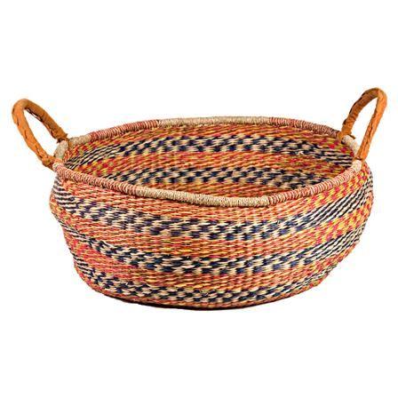 Chairworks Zulu Ethnic Dump Storage Basket, Multicoloured