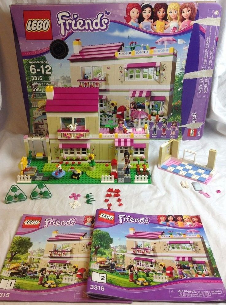LEGO Friends 3315 Olivias House with Figures & Manuals - Retired #Lego
