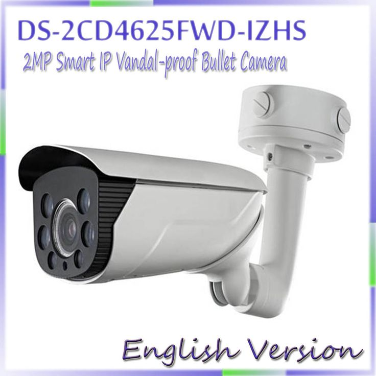 Free shipping english version DS-2CD4625FWD-IZHS 2MP Smart IP Vandal-proof Bullet Camera Support 128G on-board storage